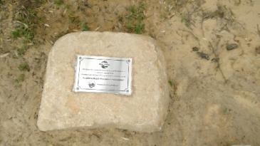 FBA plaque on rock